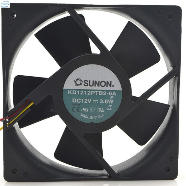 Original KD1212PTB2-6A Computer Blower Double Ball Cooling Fan DC 12V 0.3A 3.6W 12025 120*120*25mm 1600RPM 3 Wires