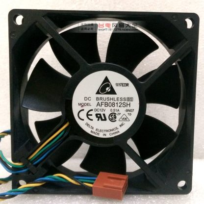 New Delta AFB0812SH 8025 8cm 80mm 12V 0.51A Dual ball power supply chassis