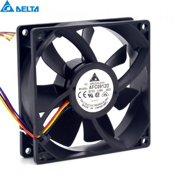 Delta New and Original sets of 9225 DC12V 0.46 A four-wire AFC0912D with speed control cooling fan for 92 * 92 * 25 mm