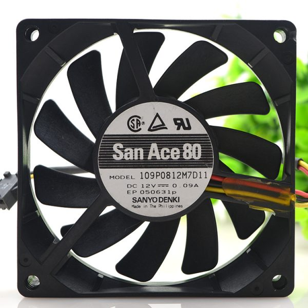 New original 8015 8CM 12V 0.09A 109P0812M7D11 ultra-quiet 3-wire cooling fan