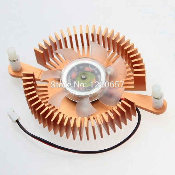 1 Pieces 12V 2 Pin Mounting Hole 80mm PC Graphics Video VGA Card Heatsink Cooler Cooling Fan