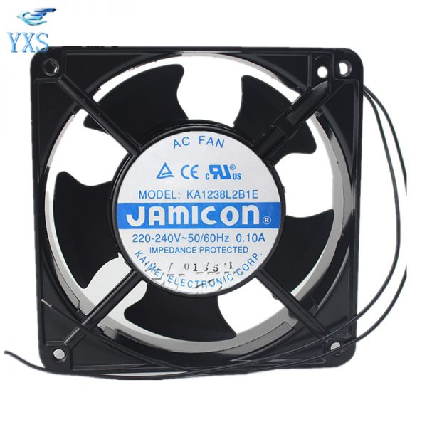 KA1238L2B1E AC 220V-240V 0.1A 50/60HZ 12038 12CM 120*120*38mm 2 Wires Cabinet Cooling Fan