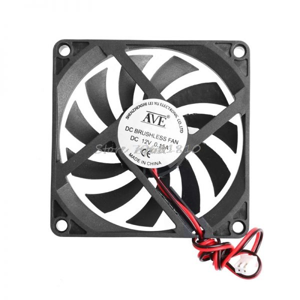80x80x10mm 2-Pin 12V PC Computer CPU System Heatsink Brushless Cooling Fan 8010 Z17 Drop ship