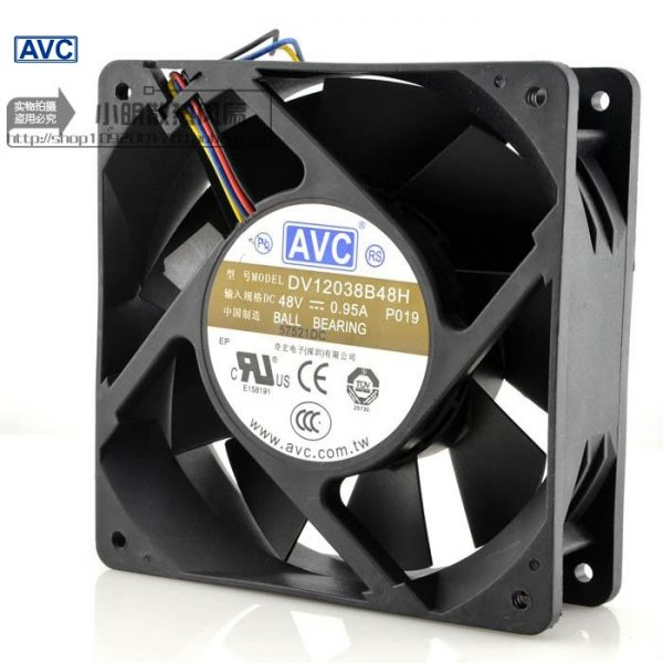 AVC New 48V 0.95A DV12038B48H 12CM 12038 industrial inverter cooling fan 120*120*38mm