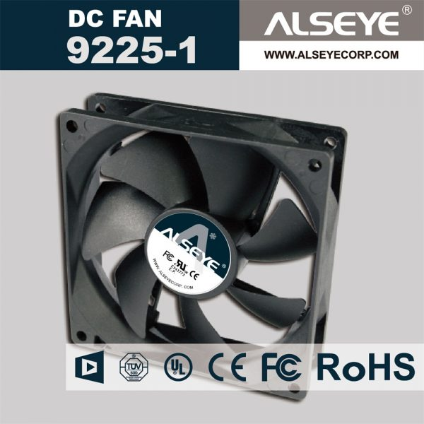 ALSEYE 9225 (5piece/lot) DC 12v axial cooling fan 90mm 1800RPM Hydraulic Bearing 92 x 92 x 25mm cooler fan for computer