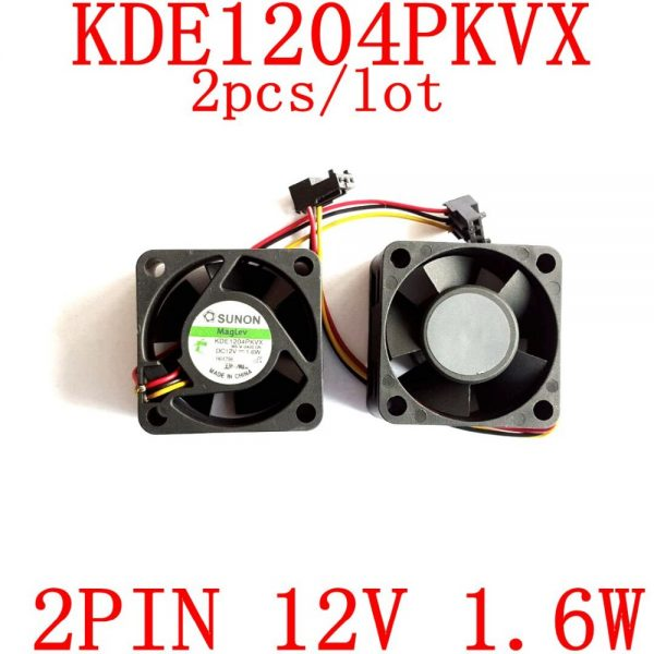 Free Shipping original SUNON KDE1204PKVX 40X40X20mm 12V 1.6W cooling fan