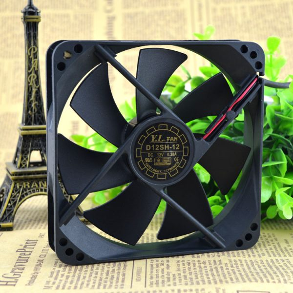 Free Delivery. 120 * 120 * 25 mm 12 cm/cm ultra-quiet power supply 12 v fan D12SM - 12