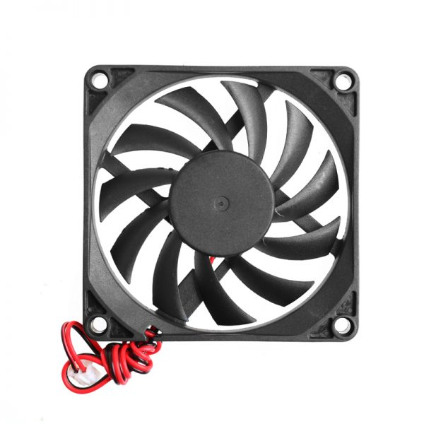 BGEKTOTH HOT 12V 2-Pin 80x80x10mm PC Computer CPU System Heatsink Brushless Cooling Fan Plastic