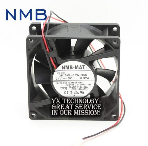 NMB new and original 90*90*38mm 3615KL-05W-B50 24V 9038 0.32A inverter ABB dedicated cooling fans 2pcs/lot