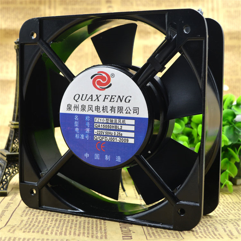 qa15050hbl2 220v 36w 15cm small axial fan cooling fan blower 2-wire rack  chassis axial