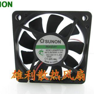 Original SUNON KDE1206PFV3 1.2W 6CM 6010 2 wire dc brushless fan 12v