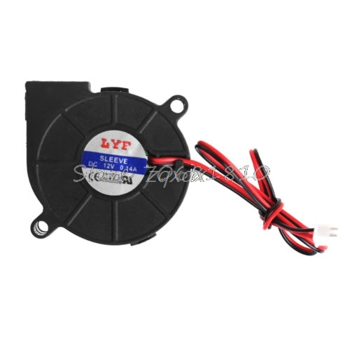50mmx15mm DC 12V 0.14A 2-Pin Computer PC Sleeve-Bearing Blower Cooling Fan 5015 Z17 Drop ship