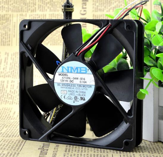 Wholesale: NMB 120*120*25 12V 0.16A 4710KL-04W-B16 12CM 3 line ultra quiet fan