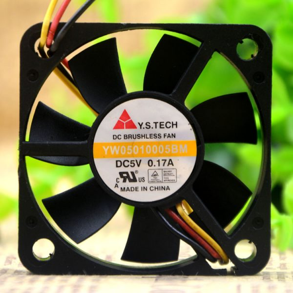 New original YW05010005BM 5V 0.17A 5CM 5010 3-wire cooling fan