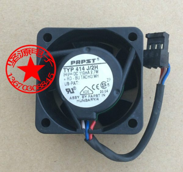 ebmpapst 414 J/2H DC 24V 2.7W 40x40x25mm Server Square Fan
