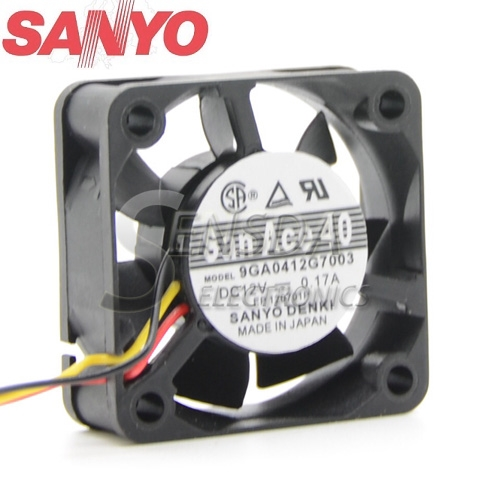 Original Sunon GM1204PKV3-A DC 12V 0.6W 3Wire server inverter axial Cooling Fans