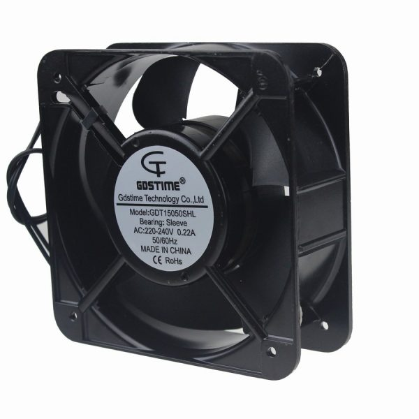 Gdstime 5pcs/lot 220V 2 Wire 150mm 15CM 15050 150x150x50mm Industrial Exhaust AC Axial Cooling Fan