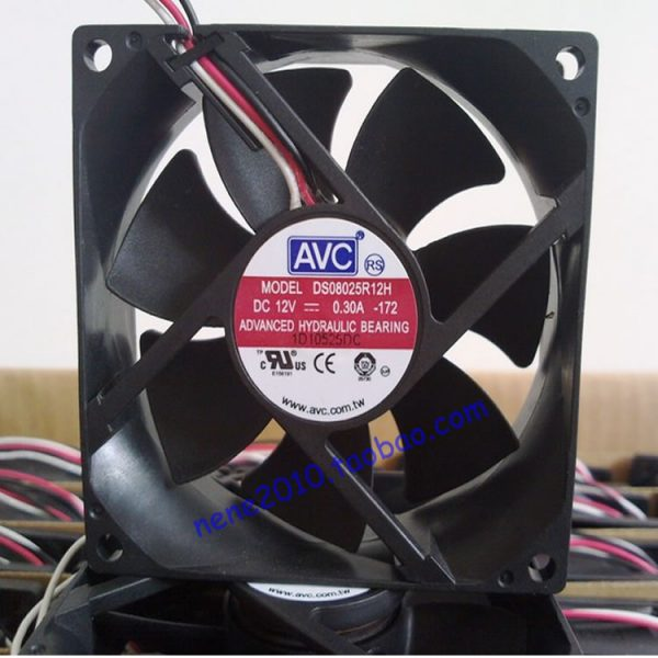 Original AVC 8025 8cm 0.30A DS08025R12H 80 * 80 * 25MM Chassis Fan