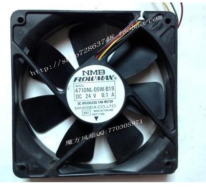 NMB 4710NL-05W-B19 inverter fan silent fan 24V 0.1A cooling fan