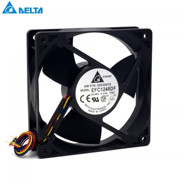 EFC1248DF-F00 used to Huawei machines 12032 48v 0.33A 12cm Fan 4-wire for delta