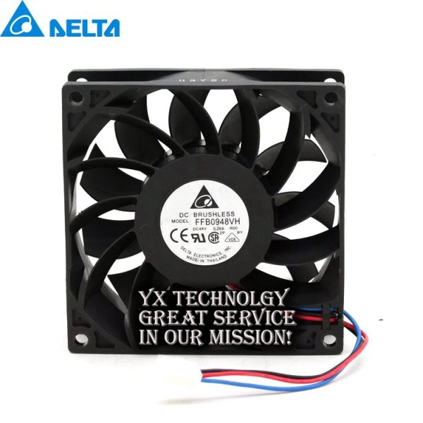 Original FFB0948VH 92*92*25MM 9225 48V 0.26A PWM speed control air volume fan for Delta