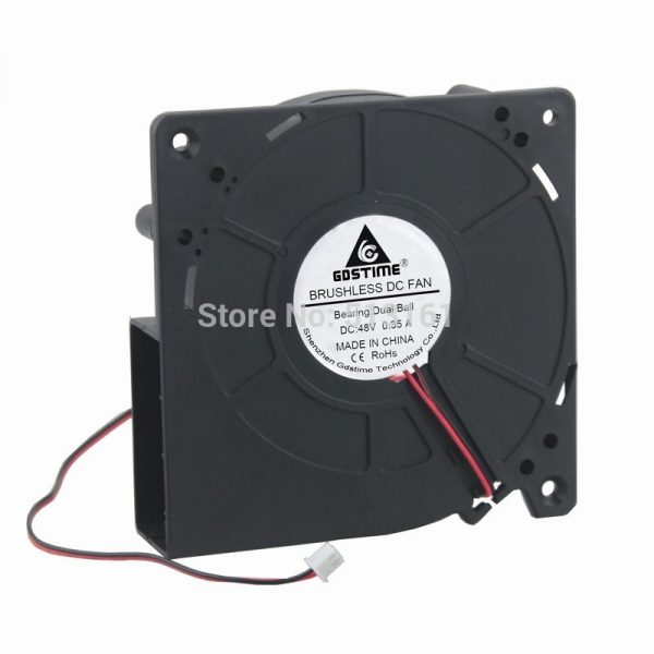Gdstime 12cm 12032 120mm 48V DC 2 Pin Ball Bearing Computer Cooling Exhaust Blower Fan