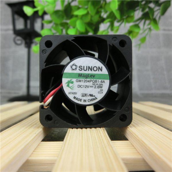 Original SUNON GM1204PQB1-8A 40*40*28mm DC 12V 2.6W 3-wire 1U2U Server Cooling Fan