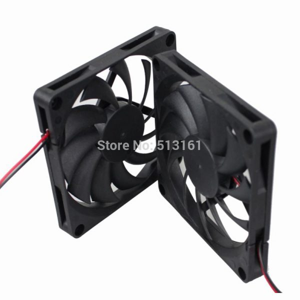2pcs/lot Gdstime DC 8010 12V Cooler 80*80x10mm 8cm Sleeve Bearing Computer CPU Cooling Fan