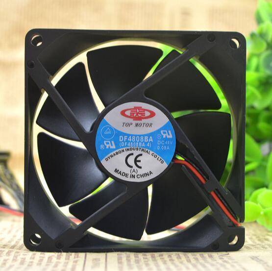 TOP MOTOR DF4808BA DC 48V 8CM 48V 0.09A 8025 80*80*25MM 2-wire inverter Cooling fan