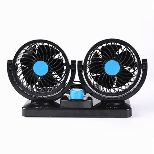 12V/24V Car Air Conditioner Fan Portable Ventilateur Mini Fan Silent 360 Degree Rotating Adjustable Car Air Cooling Fan Blower