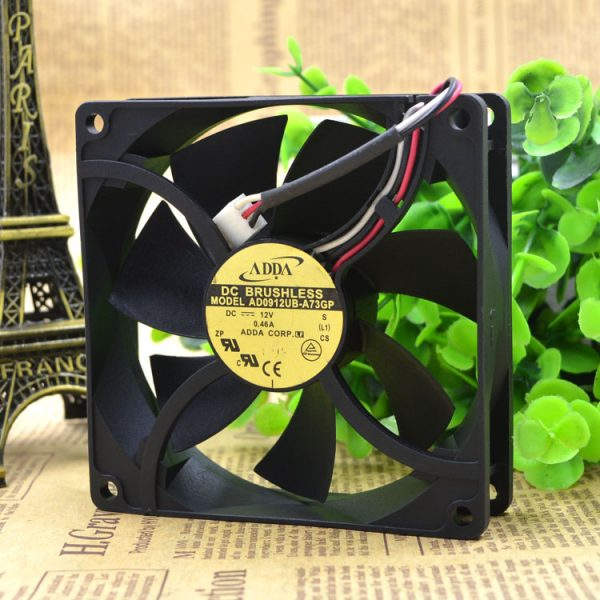 ADDA AD0912UB-A73GP 92x92x25mm DC 12V 0.46A radiator server inverter industrial Square cooling Fan