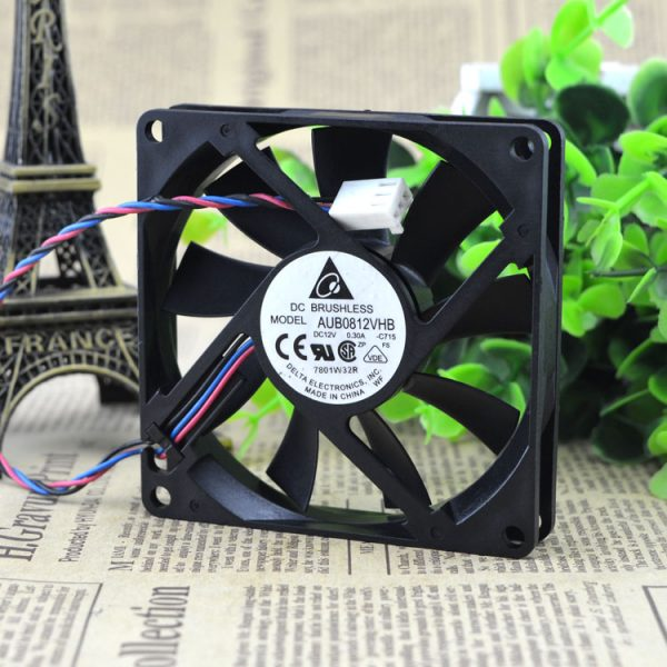 Original DELTA 8015 0.30A 8CM 12V AFB0812VHB CPU Double ball bearing cooling fan