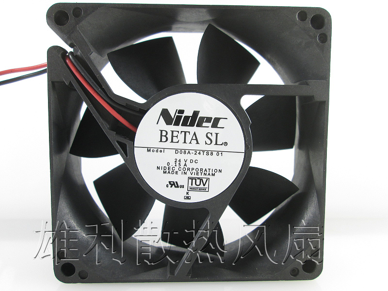 Free Delivery. Original 8CM 8025 24V 3.4W KDE2408PTB1-6 2-wire inverter cooling fan