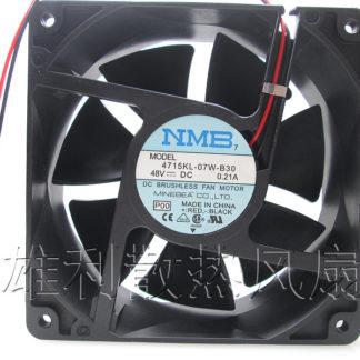Free delivery. Original 4715KL-07W-B30 12038 48V 0.21A 12CM 2-wire inverter fan