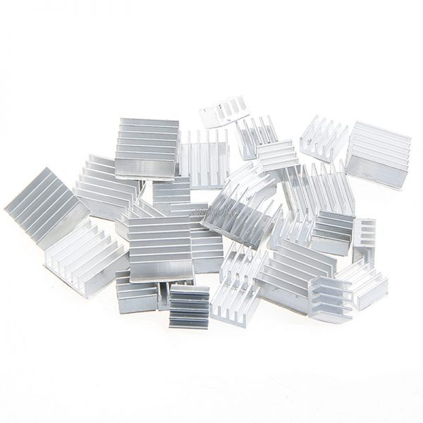 10Pcs Heatsink Fans Pure Aluminum Heat Sink For Cooling Pi 2 For Raspberry Pi 3 Z17 Drop ship