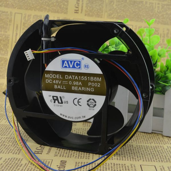 Genuine AVC 17251 DATA1551B8M DC 48V 0.98A metal shell high temperature resistant 4-Wires cooling Fan