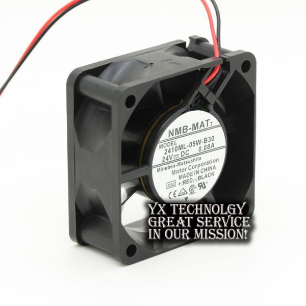 New and Original 2410ML-05W-B30 6025 6CM 0.08A 24V two-wire inverter cooling fan for NMB 60*60*25mm
