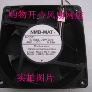 NMB-MAT 4715SL-09W-B36 Server Square Fan DC 48V 0.24A 120x120x38mm 3-wire