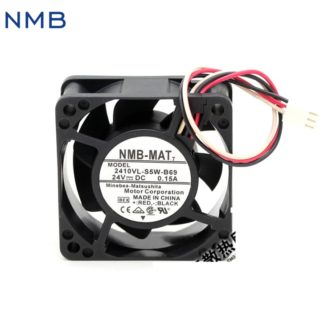 New and Original 2410VL-S5W-B69 6CM 6025 24V 0.15A waterproof three-wire inverter fan for NMB 60*60*25mm