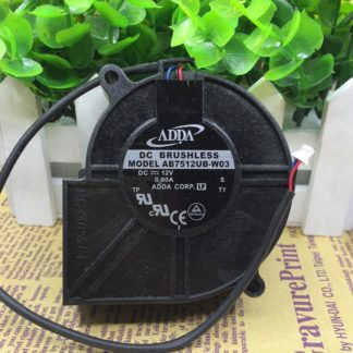 Original ADDA AB7512UB-W03 DC 12V 0.6A Projector Blower Cooling fan