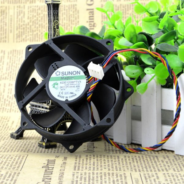 SUNON 9025 9cm DC 12V 7.0W 92*92*25mm KDE1209PTVX 4-pin PWM Temperature Controlled Magnetic Levitation Cooling Fan