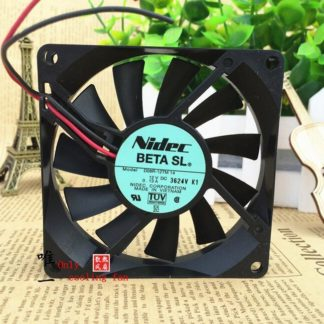 Original Authentic NIDEC D08R-12TM14 8015 80x80x15mm 8cm DC 12V 0.13A 2 Wire Cooling Fan