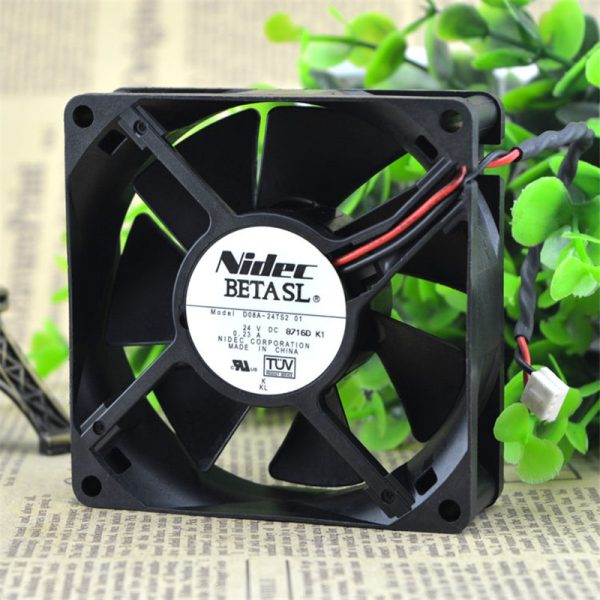 D08A-24TS2, 01 DC 24V 0.23A, 80x80x25mm 60mm, connector Server Square fan Inverter cooling fan