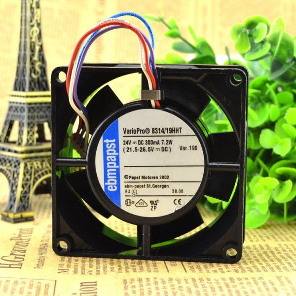 Free Delivery. 8032 EBM PAPST 8314/19 HHT 24 v 7.2 W 4 line 8 cm 8032 inverter fan