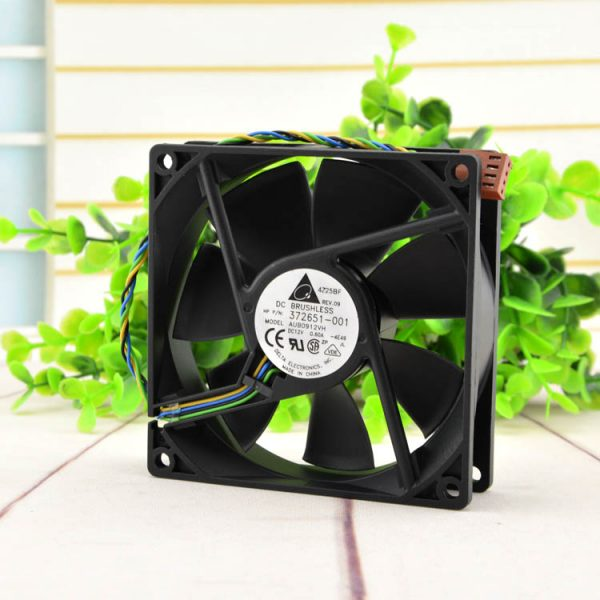 DELTA AUB0912VH 9025 12V 0.60A 90*90*25MM 4 wire PWM speed temperature control fan