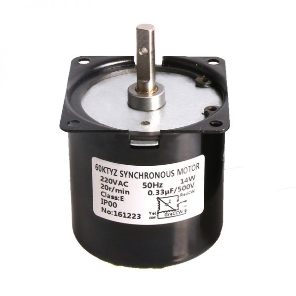 60KTYZ Permanent Magnet Synchronous Motor low speed AC220V 14w 1.2rpm~110rpm 0.5A PMSM Motor