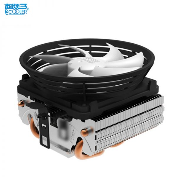 PcCooler V4 CPU cooler 2 heatpipe 3pin 10cm quiet fan for AMD for Intel LGA 775 1151 1150 1155 1156 cpu cooling radiator fan