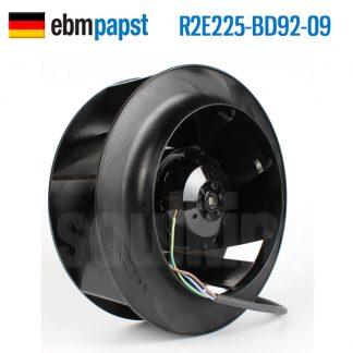 Original German ebmpapst R2e225-bd92-09 230V 0.60A centrifugal fan cooling fan