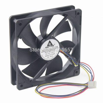 1PCS Gdstime Hydraulic 120mm x 25mm 12cm PWM PG Computer Case Cooling Fan 4 Pin Cooler
