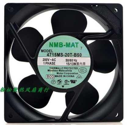 Original NMB 138 2V 50/60Hz 138 4715MS-T-B50 aluminum shell fan